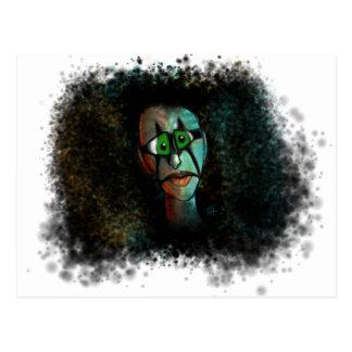 the silent clown postcard