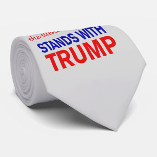 The silent majority stands with Trump Neck Tie
