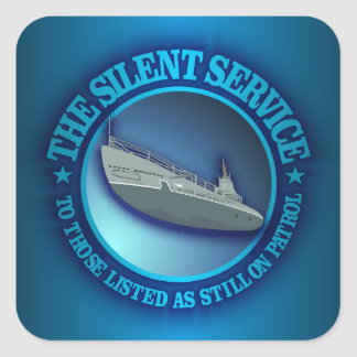 The Silent Service Square Sticker