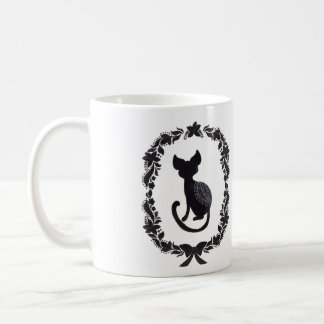 The Silhouette Cat Coffee Mug