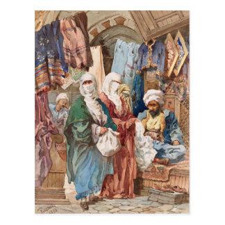 """The Silk Bazaar"" art postcard"