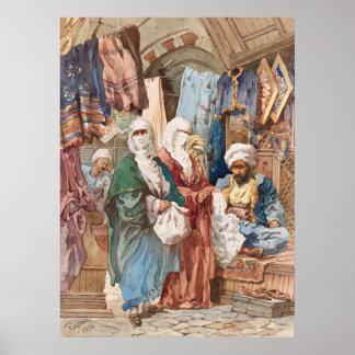 """""""The Silk Bazaar"""" art poster"""