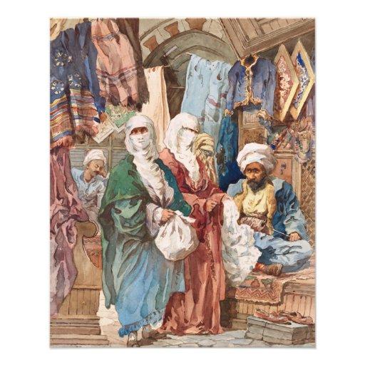 """The Silk Bazaar"" custom flyers"