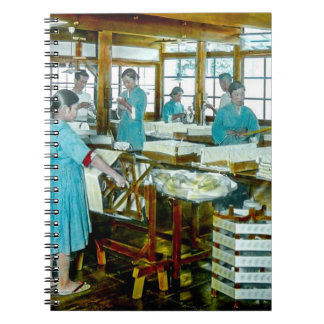 The Silk Twisters of Old Japan Silk Factory Spiral Notebook