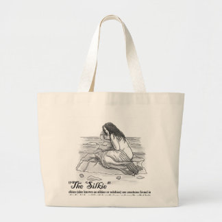 the silkie large tote bag