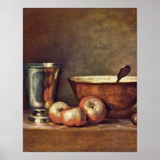 The Silver Beaker by Jean-Baptiste Simeon Chardin Poster