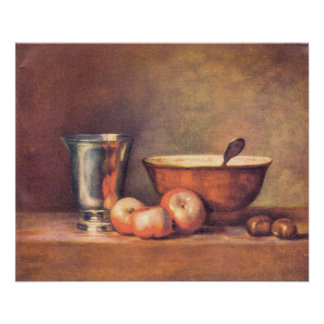 The silver cup by Jean Chardin Posters
