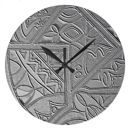The Silver Door Round Clock
