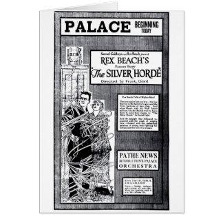 """The Silver Horde' 1920 vintage movie ad card"