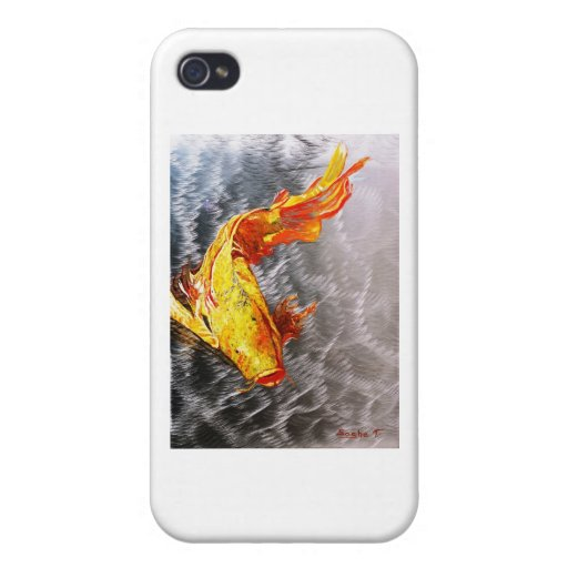 The Silver Koi Fish Print iPhone 4/4S Cover