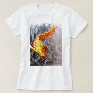 The Silver Koi Fish Print T-Shirt