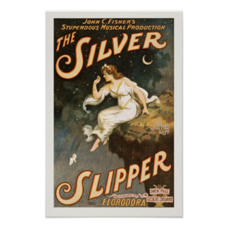 The Silver Slipper Performing Arts Vintage Poster