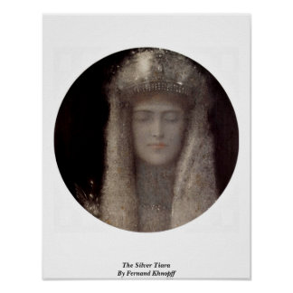 The Silver Tiara By Fernand Khnopff Poster