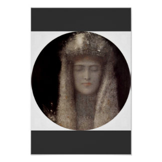 The Silver Tiara By Khnopff Fernand (Best Quality) Print