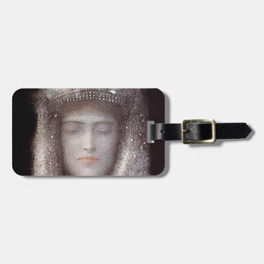 The Silver Tiara- Silver Crown - by Odilon Redon Bag Tag