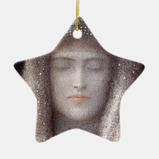 The Silver Tiara- Silver Crown - by Odilon Redon Ceramic Ornament