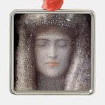 The Silver Tiara- Silver Crown - by Odilon Redon Christmas Tree Ornament