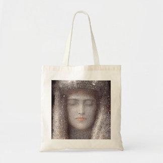 The Silver Tiara- Silver Crown - by Odilon Redon Tote Bag