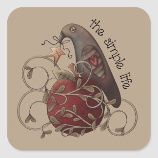 The Simple Life Country crow sticker
