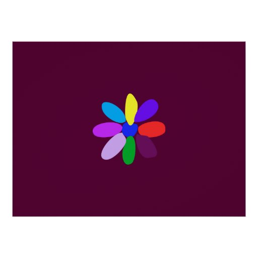 The Simplest Flower Poster