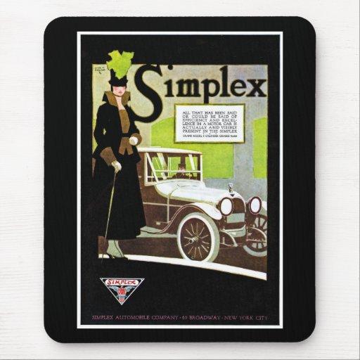 The Simplex - Vintage Automobile Advertisement Mouse Pad