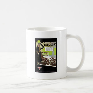 The Simplex - Vintage Automobile Advertisement Classic White Coffee Mug