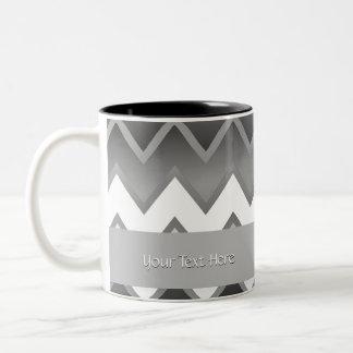 The Simply ZigZag -Monochrome Two-Tone Coffee Mug