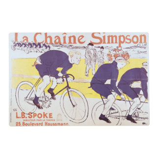 The Simpson Chain, 1896 Laminated Placemat