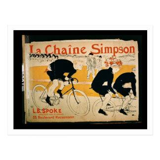 'The Simpson Chain', Paris (colour litho) Postcard