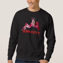 The sin city floral pattern Angel Sweatshirt