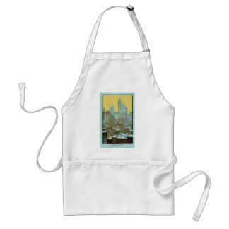 The Singer Building From Brooklyn Bridge Adult Apron