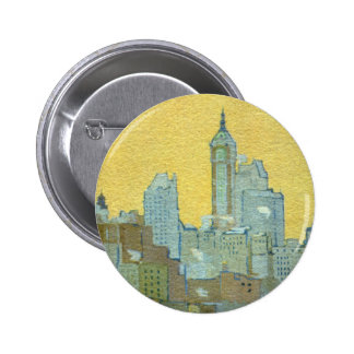 The Singer Building From Brooklyn Bridge Button