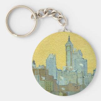 The Singer Building From Brooklyn Bridge Key Chain