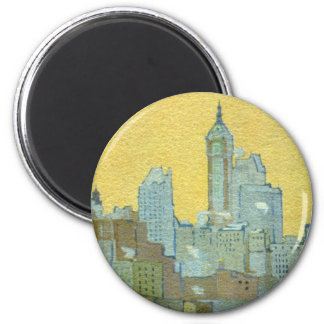 The Singer Building From Brooklyn Bridge Fridge Magnet