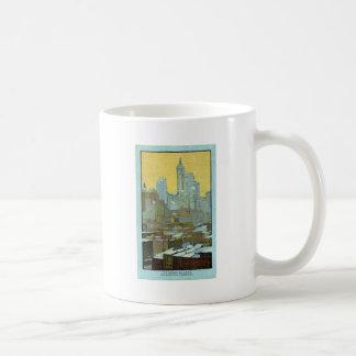 The Singer Building From Brooklyn Bridge Coffee Mugs