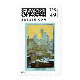 The Singer Building From Brooklyn Bridge Stamp