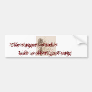 The Singer's Studio Car Bumper Sticker