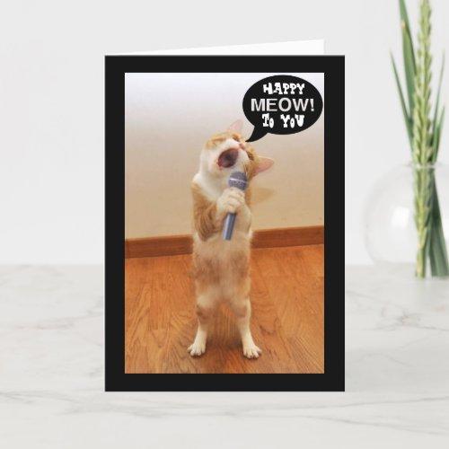 The Singing Cat Birthday Card
