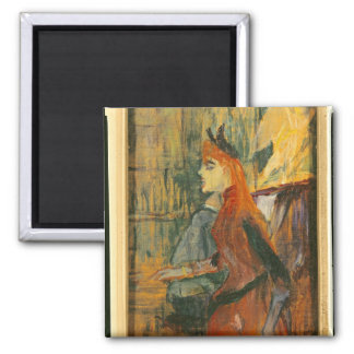 The Singing Lesson, 1882 2 Inch Square Magnet