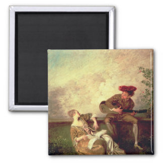 The Singing Lesson 2 Inch Square Magnet