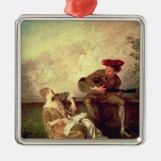 The Singing Lesson Metal Ornament