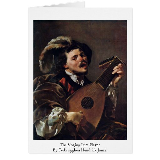 The Singing Lute Player Card