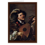The Singing Lute Player Greeting Cards