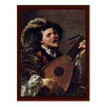 The Singing Lute Player Post Cards