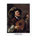 The Singing Lute Player Postcard