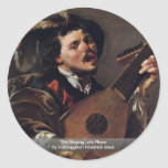 The Singing Lute Player Stickers