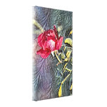 The Single Red Rose Canvas Art Print Stretched Canvas Print