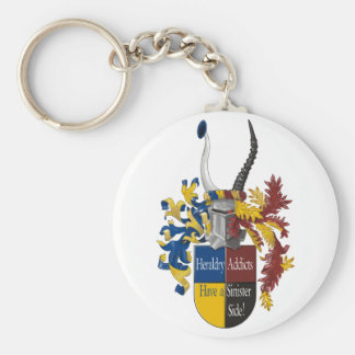 The Sinister Side of Heraldry Basic Round Button Keychain