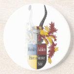 The Sinister Side of Heraldry Beverage Coaster