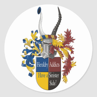 The Sinister Side of Heraldry Classic Round Sticker